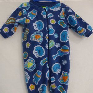 SESAME BEGINNINGS, 3M, zip up fleece onesie, BNWOT